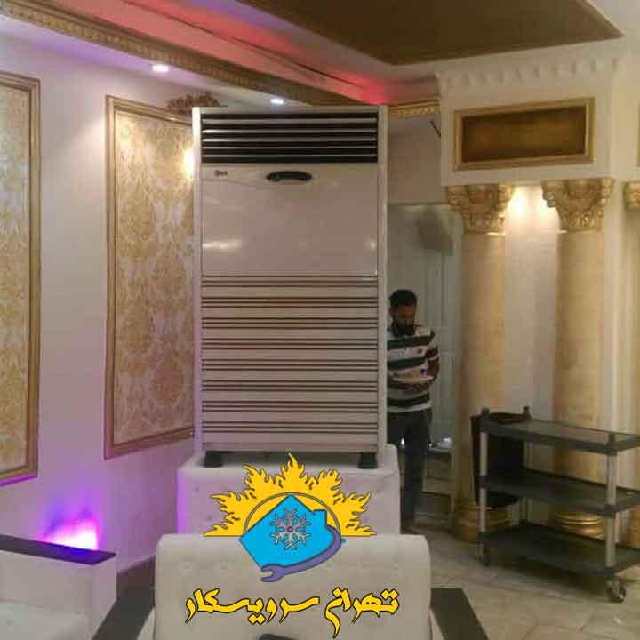 نصب پنل داخلی کولر گازی ال جی ۹۰۰۰۰ در احمد آباد مستوفی تهران